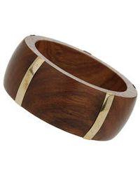 Topshop Wooden Bangle - Lyst