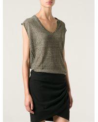 Isabel Marant Sheer Knit Top - Lyst
