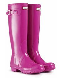 Hunter Original Tall Gloss Rain Boot - Lyst