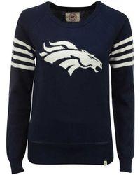 47 Brand - Women's Denver Broncos Drop Needle Sweater - Lyst