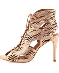 Joie Elvie Metallic Lace-up Sandal - Lyst