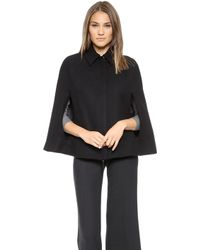 Theory Structured Danijo Cape  Navy - Lyst