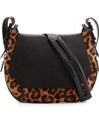 Rag & Bone Bradbury Small Leopard-Print Calf Hair Crossbody Bag - Lyst