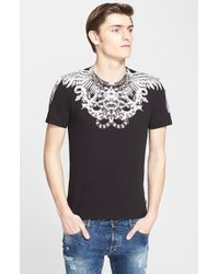 Just Cavalli 'Snake And Feather' Graphic T-Shirt black - Lyst