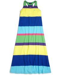 Ralph Lauren Girls Striped Maxi Dress - Lyst