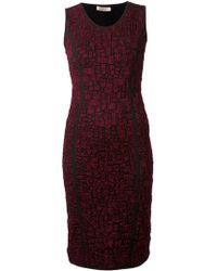 Nina Ricci Fitted Dress - Lyst