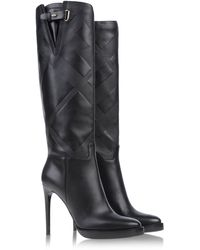 Burberry London Black Tall Boots - Lyst
