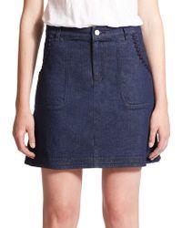 See By Chloé | Embellished Denim Skirt | Lyst