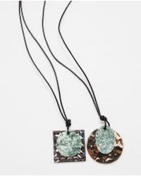Zara | Metal Plaque Necklace Pack Of 2 | Lyst