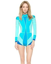Cynthia Rowley Colorblock Wetsuit - Blue Combo blue - Lyst