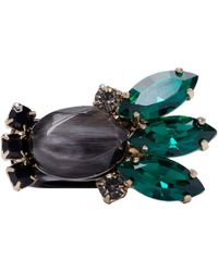 Marni - Black Resin And Horn Ring - Lyst