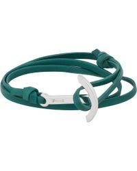 Miansai Leather Wrap Bracelet with Anchor - Lyst