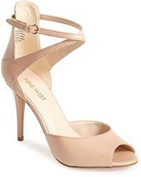 Nine West 'Doreen' Leather Ankle Strap Sandal - Lyst