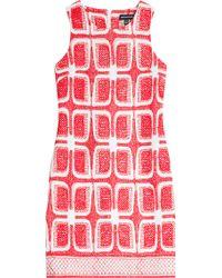 Ostwald Helgason Embroidered Shift Dress - Lyst