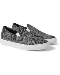 Christopher Kane Printed Canvas Slip-On Sneakers - Lyst