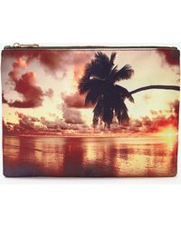 Forever 21 Sunset Graphic Clutch - Lyst
