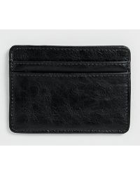 Topman Black Leather Look Cardholder - Lyst