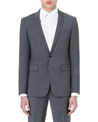 Sandro Wool Suit Jacket Grey - Lyst