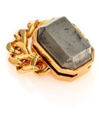 House Of Lavande Batari Pyrite Chain Ring - Lyst
