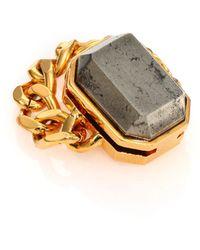 House Of Lavande Batari Pyrite Chain Ring gold - Lyst