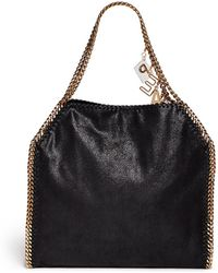 Stella McCartney 'Falabella' Peace Charm Chain Border Tote black - Lyst