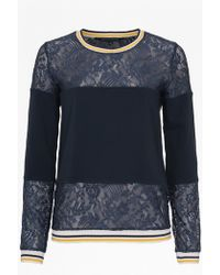 French Connection Hannah Lace Sweater - Lyst