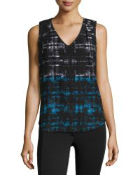 Dex Abstract-Print Jersey Tank Top - Lyst