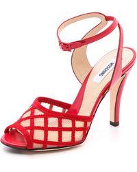 Moschino Mesh Vamp Sandals - Lyst