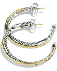 david yurman crossover extralarge hoop earrings with gold lyst