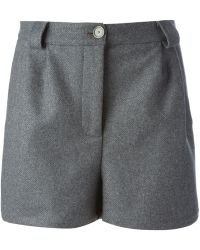 Erika Cavallini Semi Couture Gray Tailored Shorts - Lyst