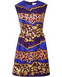 Peter Pilotto Tri Printed Silk-Jersey Dress - Lyst