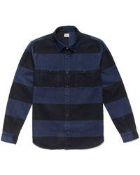 Edwin | Navy & Black Stripe Labour Shirt | Lyst