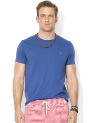Ralph Lauren  Custom Fit Cotton Jersey Crew Neck T-Shirt - Lyst