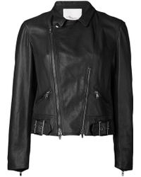 3.1 Phillip Lim Sculpted Motorcyle Jacket - Lyst