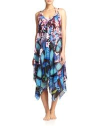 Jean Paul Gaultier Butterfly-Print Coverup Dress - Lyst