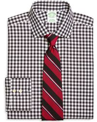 Brooks Brothers Noniron Extraslim Fit Gingham Dress Shirt - Lyst