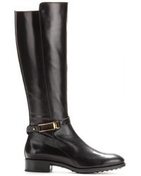 Tod's Leather Knee Boots - Lyst