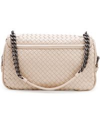 Bottega Veneta Medium Intrecciato Flap Shoulder Bag - Lyst