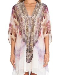 Camilla Short Lace Up Caftan - Lyst
