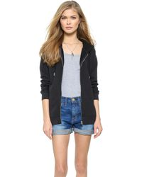 Zoe Karssen Zip Through Hoodie - Lyst