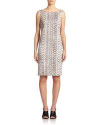 Max Mara Jessica Snakeskin-Print Stretch-Cotton Dress - Lyst