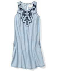 Sabine Embroidered Sleeveless Shift Dress - Lyst