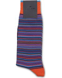 Duchamp Platinum Striped Cotton Socks - Lyst