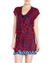 Alysi Labyrinth Print Dress - Lyst