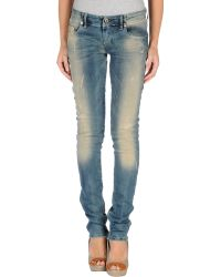 Diesel Denim Trousers blue - Lyst
