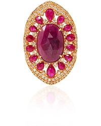 Sutra - Ruby And Diamond Ring - Lyst