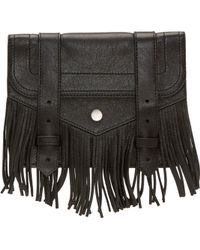 Proenza Schouler Black Fringed Large Ps1 Chain Wallet - Lyst