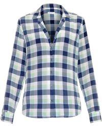 Equipment Adalyn Plaid-Print Silk Shirt - Lyst