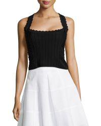 Nanette Lepore Corset Top With Scallop Detail - Lyst