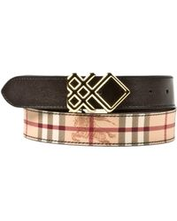 Burberry Brown Belt - Lyst